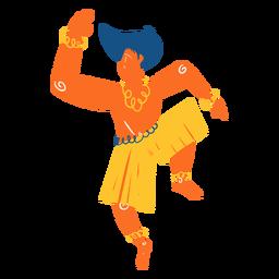 Ilustración de bailarín hawaiano
