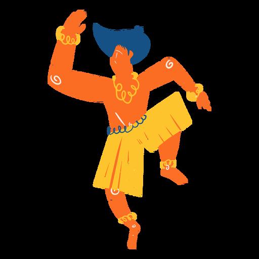 Hawaiian male dancer illustration