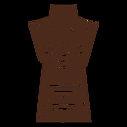 Máscara tiki hawaiana