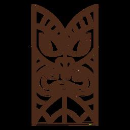 Trazo de tótem tiki hawaiano