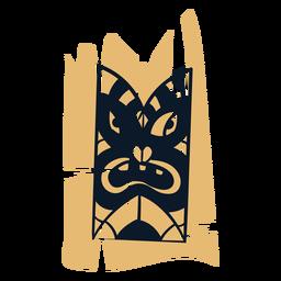 Tótem tiki hawaiano amarillo