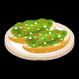 Italian crostini illustration