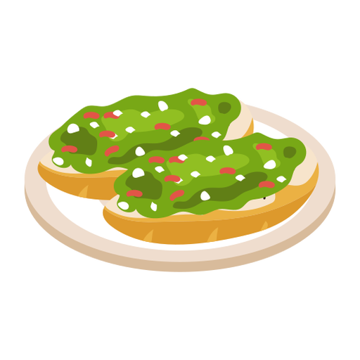 Italian Crostini Illustration Transparent Png Svg Vector File