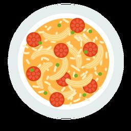 Italian pasta dish flat