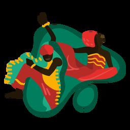 Kwanzaa bailando ilustración tradicional kwanzaa