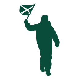 Scotland flag bearer silhouette