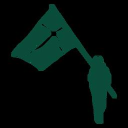 Sweden flag bearer silhouette