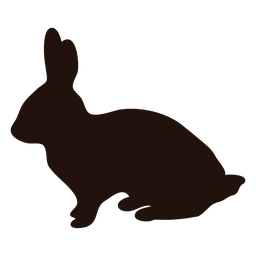 Animal rabbit side silhouette