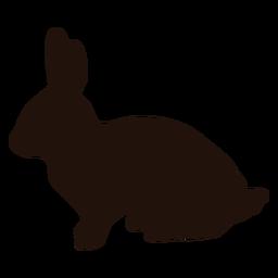 Silueta de lado de conejo animal