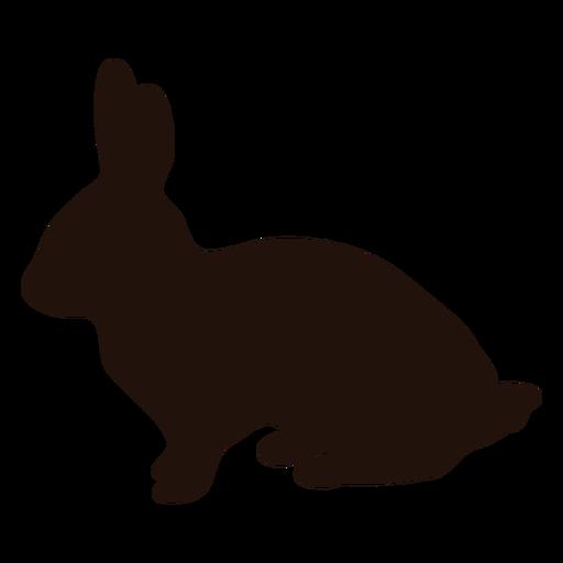 Silhueta lateral do coelho animal