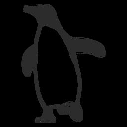Silhueta de pinguim de animal aquático