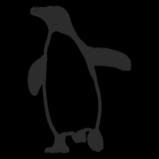 Aquatic animal penguin silhouette