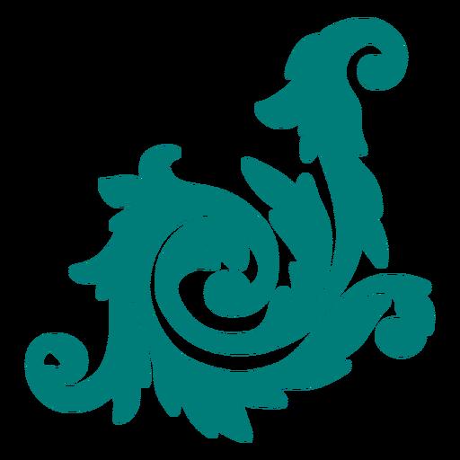 Artistic decorative swirls ornament