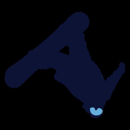 Back flip snowboarding silhouette Transparent PNG