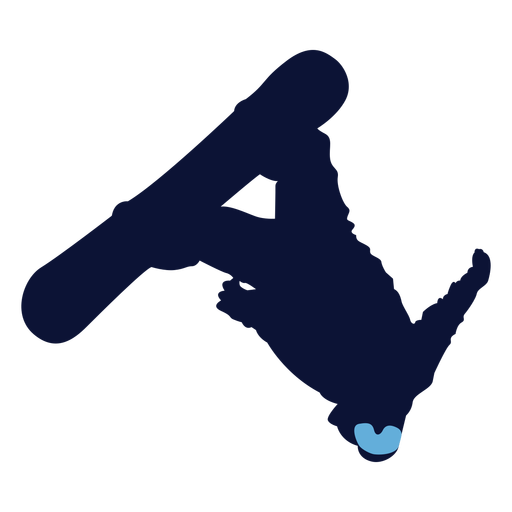 Back flip snowboarding silhouette