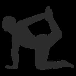 Balance yoga pose silhouette