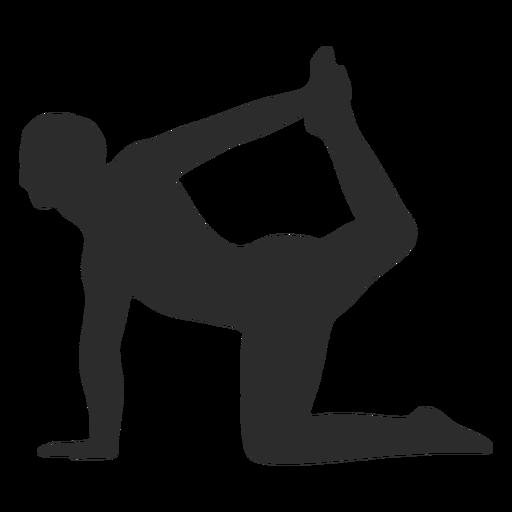 Silueta de pose de yoga de equilibrio