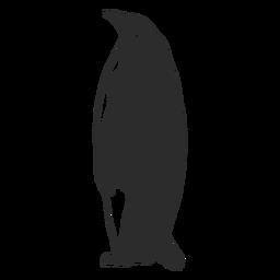 Silueta de animal pingüino grande