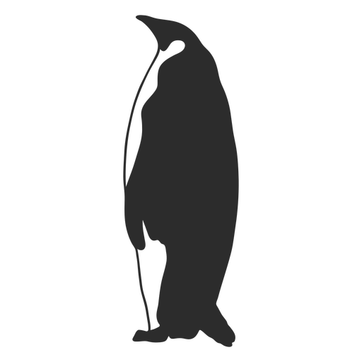 Big penguin animal silhouette