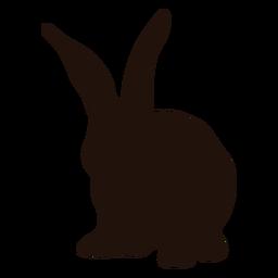 Big rabbit ears animal silhouette