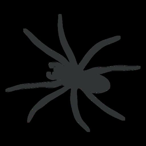 Silueta de arácnido araña grande