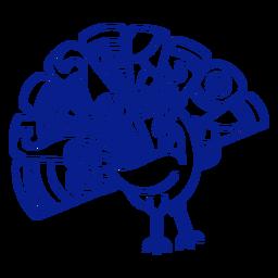 Bird peacock stroke