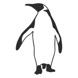 Bird penguin animal silhouette