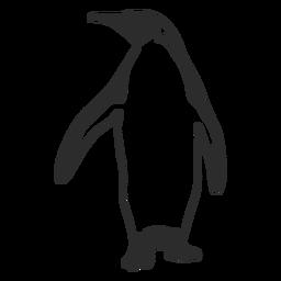 Pájaro pingüino animal silueta