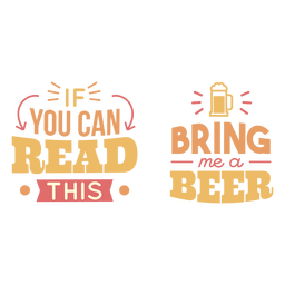 Tráeme una cerveza con letras