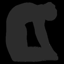 Silhueta de ioga em pose de camelo