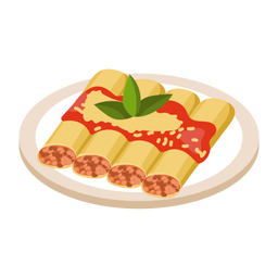 Cannelloni food illustration