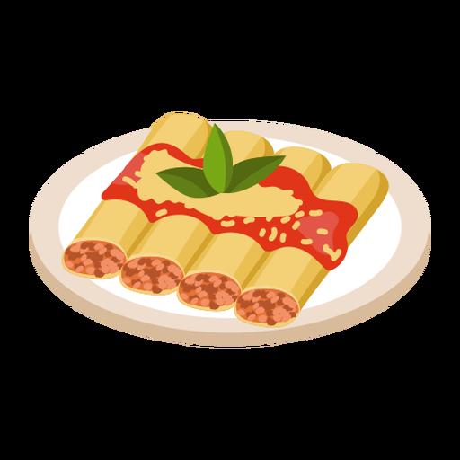 Cannelloni food illustration Transparent PNG