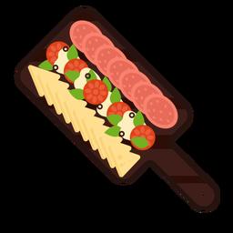 Chopping board appetizers flat