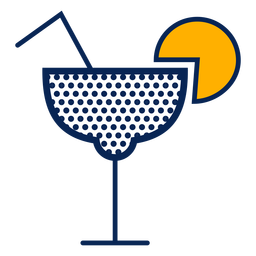 Cocktail polka dots stroke