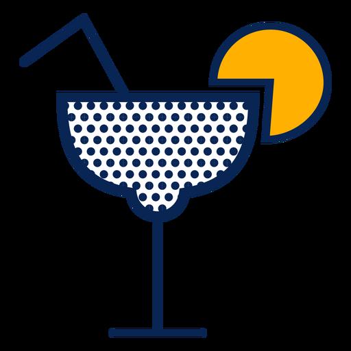Cocktail polka dots stroke