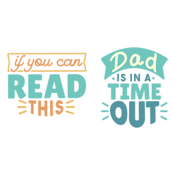 Dad time out lettering