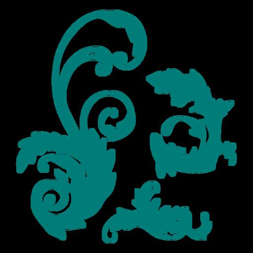 Decorative artistic ornament swirls