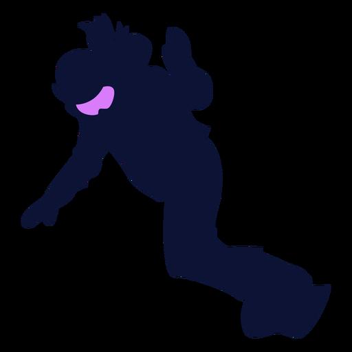 Silhueta de snowboarder descendente