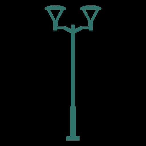 Double street lamp vintage