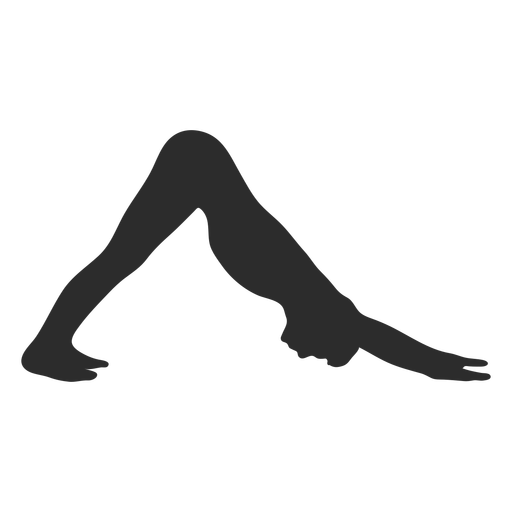 Downward dog yoga silhouette
