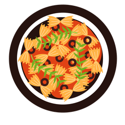 Farfalle pasta dish illustration