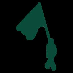 Flag flag bearer silhouette