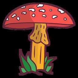 Ilustración de hongo amanita hongo