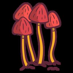 Ilustración de hongos hongos