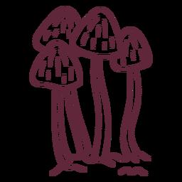 Derrame de cogumelos fungo