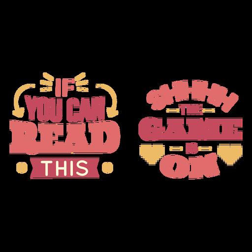 El juego est? en letras