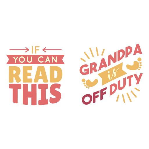 Grandpa off duty lettering