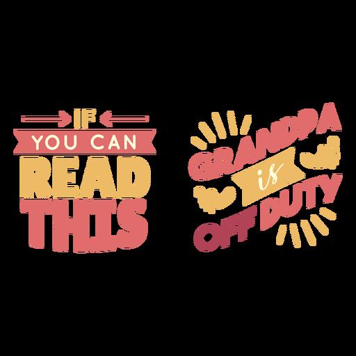 Letras de abuelo fuera de servicio