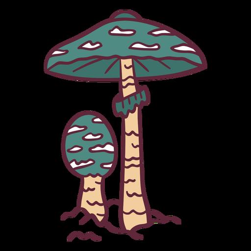 Green amanita poisonous illustration