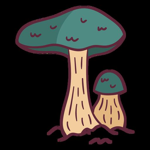 Green mushroom wild illustration